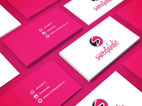 Sweetaholic Business Cards and Stationery  Draft # 7 by inviseme