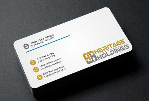 Heritage Holdings Business Cards and Stationery  Draft # 296 by Xxtreme
