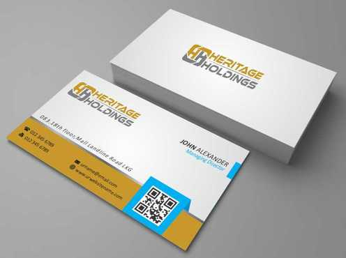 Heritage Holdings Business Cards and Stationery  Draft # 297 by Xxtreme
