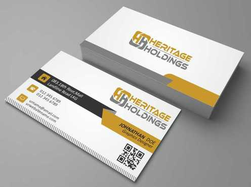 Heritage Holdings Business Cards and Stationery  Draft # 300 by Xxtreme