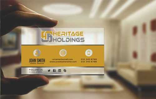 Heritage Holdings Business Cards and Stationery  Draft # 301 by Xxtreme