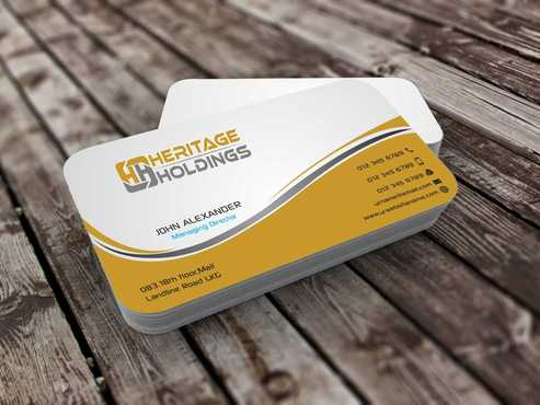 Heritage Holdings Business Cards and Stationery  Draft # 302 by Xxtreme