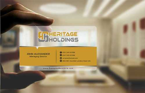 Heritage Holdings Business Cards and Stationery  Draft # 305 by Xxtreme