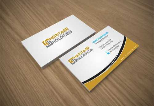 Heritage Holdings Business Cards and Stationery  Draft # 308 by Xxtreme