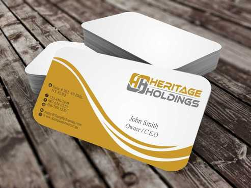 Heritage Holdings Business Cards and Stationery  Draft # 310 by Xxtreme