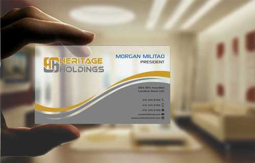 Heritage Holdings Business Cards and Stationery  Draft # 311 by Xxtreme
