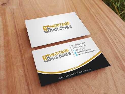 Heritage Holdings Business Cards and Stationery  Draft # 313 by Xxtreme