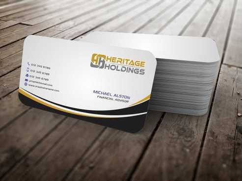 Heritage Holdings Business Cards and Stationery  Draft # 314 by Xxtreme