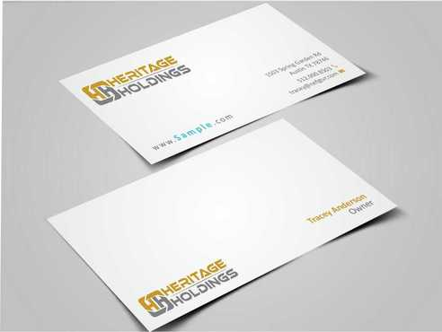 Heritage Holdings Business Cards and Stationery  Draft # 315 by Xxtreme
