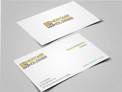 Heritage Holdings Business Cards and Stationery  Draft # 317 by Xxtreme