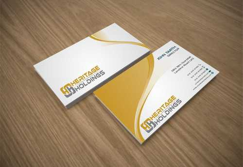 Heritage Holdings Business Cards and Stationery  Draft # 316 by Xxtreme