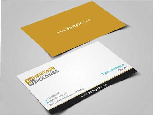 Heritage Holdings Business Cards and Stationery  Draft # 318 by Xxtreme