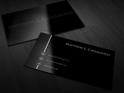 Primarily a monogram with a latin quote Business Cards and Stationery  Draft # 2 by Xpert