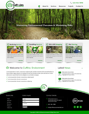 Cuff Linx - Environmental Complete Web Design Solution Winning Design by jogdesigner