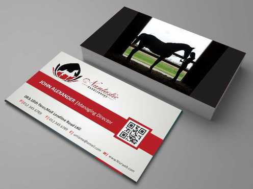 Nantastic Saddlebreds - Nancy Merlo Business Cards and Stationery  Draft # 45 by Xxtreme