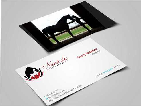 Nantastic Saddlebreds - Nancy Merlo Business Cards and Stationery  Draft # 72 by Xxtreme