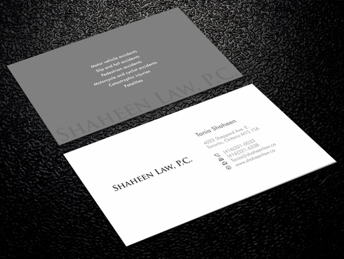 Shaheen Law, P.C. Business Cards and Stationery  Draft # 1 by Xpert