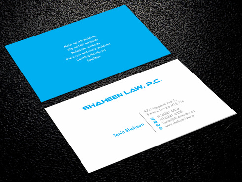 Shaheen Law, P.C. Business Cards and Stationery  Draft # 2 by Xpert