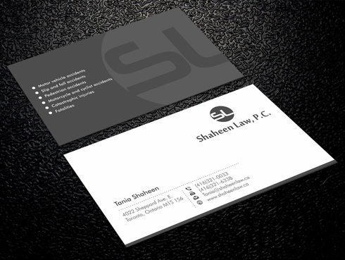 Shaheen Law, P.C. Business Cards and Stationery  Draft # 3 by Xpert
