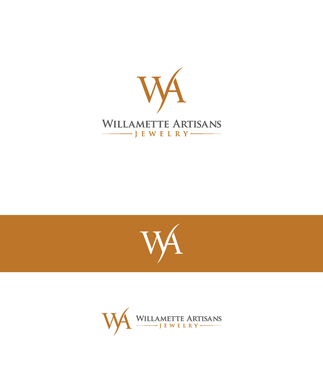 "WA (stands for Willamette Artisans Jewelry) possibly have the words "" Willamette Artisans"" in logo A Logo, Monogram, or Icon  Draft # 64 by Jam355"