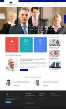 Yaghoubi Law: Lauren Yaghoubi, Esq. Complete Web Design Solution  Draft # 49 by anasli