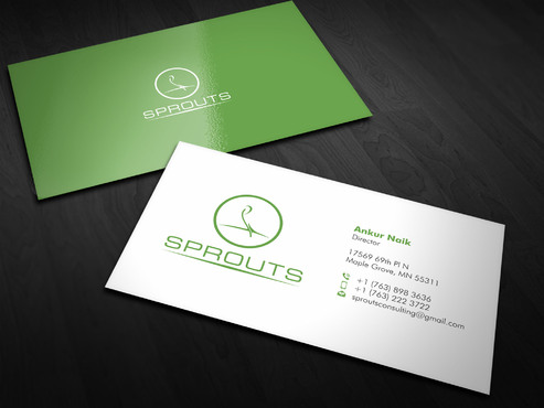 SPROUTS Business Cards and Stationery  Draft # 1 by Xpert
