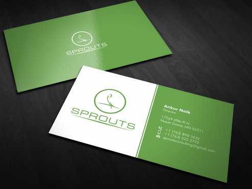 SPROUTS Business Cards and Stationery  Draft # 2 by Xpert