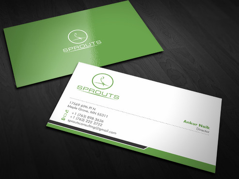 SPROUTS Business Cards and Stationery  Draft # 3 by Xpert
