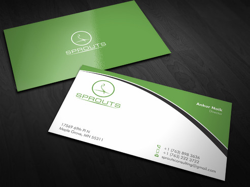 SPROUTS Business Cards and Stationery  Draft # 4 by Xpert