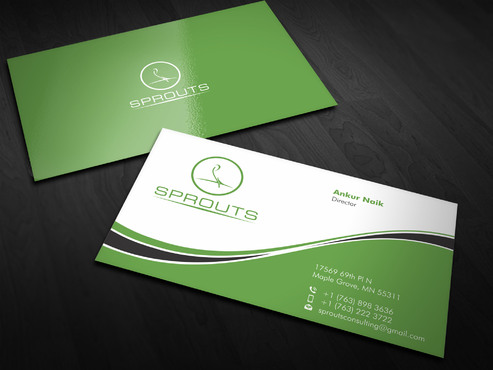 SPROUTS Business Cards and Stationery  Draft # 6 by Xpert