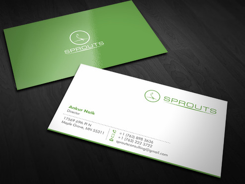 SPROUTS Business Cards and Stationery  Draft # 9 by Xpert