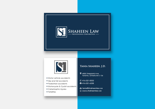 Shaheen Law, P.C. Business Cards and Stationery  Draft # 98 by maxrayne