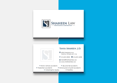 Shaheen Law, P.C. Business Cards and Stationery  Draft # 100 by maxrayne
