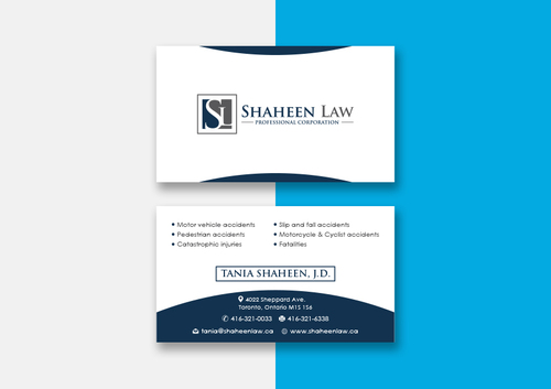 Shaheen Law, P.C. Business Cards and Stationery  Draft # 101 by maxrayne