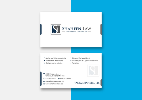 Shaheen Law, P.C. Business Cards and Stationery  Draft # 102 by maxrayne