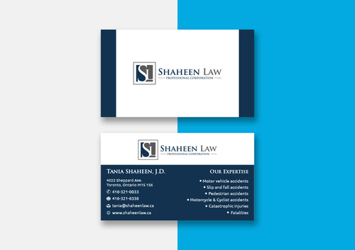 Shaheen Law, P.C. Business Cards and Stationery  Draft # 103 by maxrayne