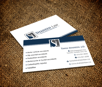 Shaheen Law, P.C. Business Cards and Stationery  Draft # 104 by maxrayne