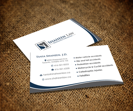 Shaheen Law, P.C. Business Cards and Stationery  Draft # 105 by maxrayne