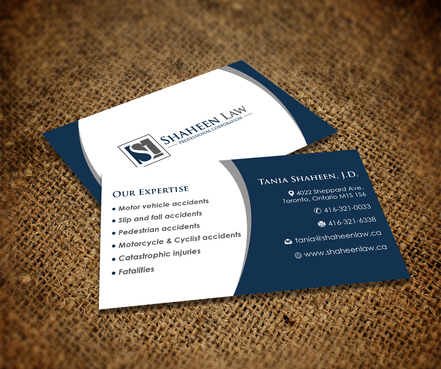 Shaheen Law, P.C. Business Cards and Stationery  Draft # 106 by maxrayne
