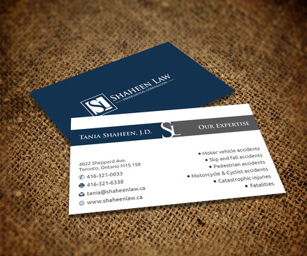Shaheen Law, P.C. Business Cards and Stationery  Draft # 107 by maxrayne