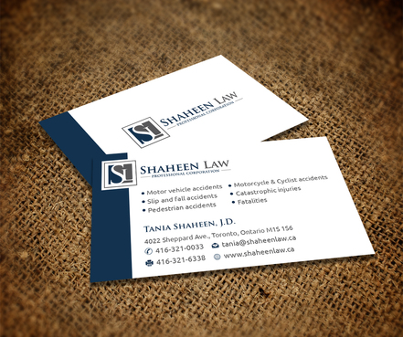 Shaheen Law, P.C. Business Cards and Stationery  Draft # 108 by maxrayne
