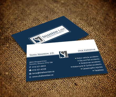 Shaheen Law, P.C. Business Cards and Stationery  Draft # 109 by maxrayne