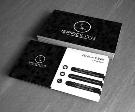 SPROUTS Business Cards and Stationery  Draft # 202 by OSSDesign