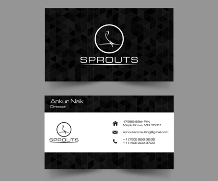 SPROUTS Business Cards and Stationery  Draft # 203 by OSSDesign