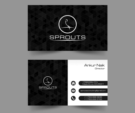SPROUTS Business Cards and Stationery  Draft # 204 by OSSDesign