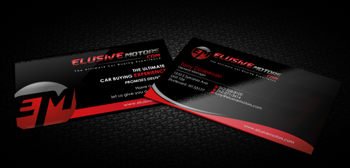 ElusiveMotors.com The Ultimate Car Buying Experience Business Cards and Stationery  Draft # 8 by sevensky