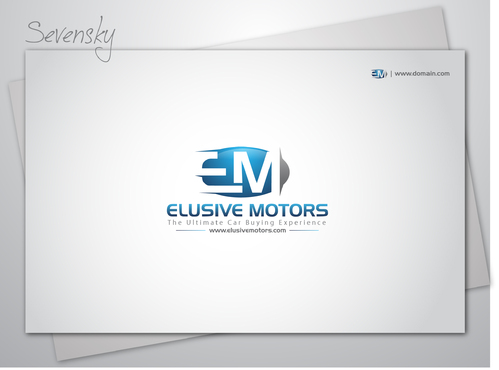 ElusiveMotors.com The Ultimate Car Buying Experience Business Cards and Stationery  Draft # 9 by sevensky