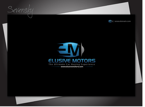 ElusiveMotors.com The Ultimate Car Buying Experience Business Cards and Stationery  Draft # 10 by sevensky