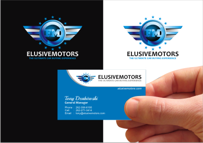 ElusiveMotors.com The Ultimate Car Buying Experience Business Cards and Stationery  Draft # 11 by srikandi