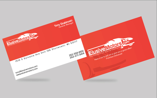 ElusiveMotors.com The Ultimate Car Buying Experience Business Cards and Stationery  Draft # 12 by VijayPratap